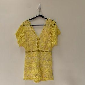 Soieblu Crochet Lace Romper